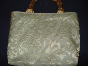 Luxurious Handbag - Greens with Gold accent shading