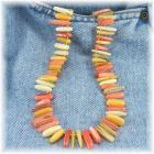Orange and Yellow Shell Bead Necklace