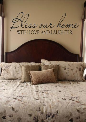 Adhesive Wall Decals  - Bless our Home...................