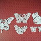 6 Venise Applique Butterflies White (BS-01)