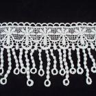"1 Yard of 3-1/4"" Venise Lace, White (WV-08)"