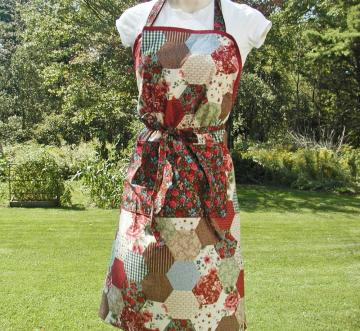 Ladies' Patchwork Full Apron--Country Design I