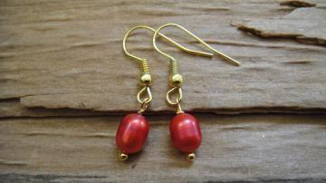 LIFEO-Vintage Gold-Red Ginger-Earrings