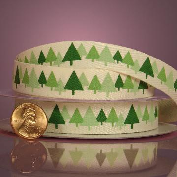 Decorative Grosgrain Ribbon Christmas Trees 5/8 Inch