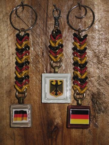 German Flag and Coat of Arms Key Chain
