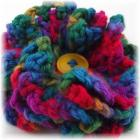 Color Splash Crocheted Ruffle Flower