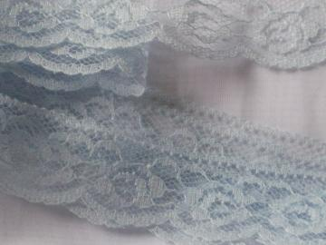Pale Blue Flat Lace Trim