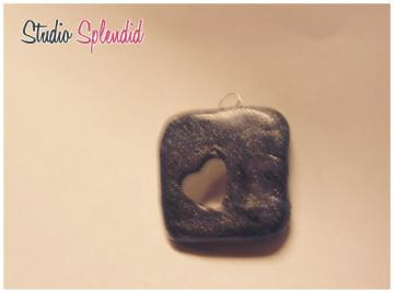heart cut out charm