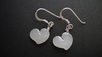 LIFEO-Sterling Silver-White Love-Earrings