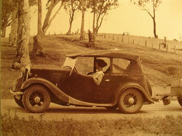 1935 Morris 8/40 on the Road by Granny's Postcards