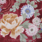 Japanese Design Fabric – Assorted FLowers