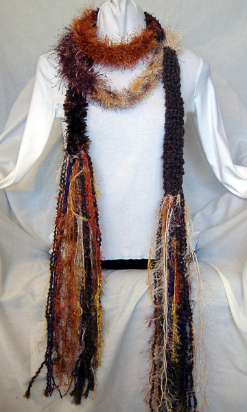 Colorful Earthy Handmade 136 inch SCARF