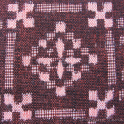Japanese Wool Fabric - Maroon & Geometric (1m)