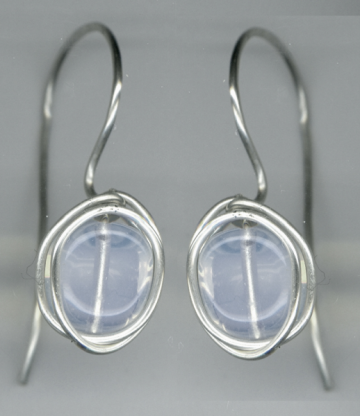 Opalite and silver earrings