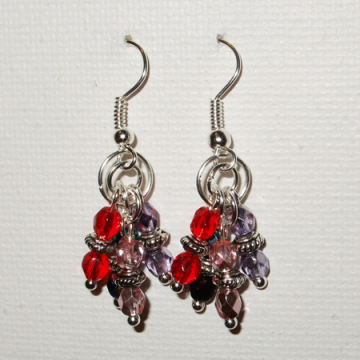 Multicolour dangling earrings