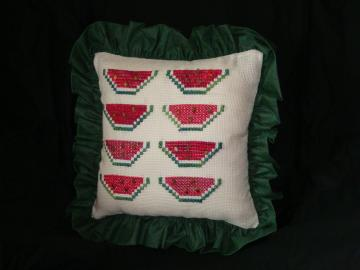 Pillow, decoration, home decor, watermelon, green,