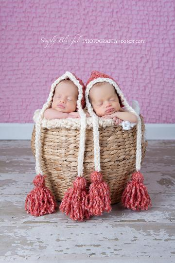 DUTCH PIXIE Crochet Newborn Baby Pixie Hat Photo Prop