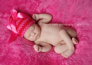 SWEETHEART Crochet Newborn Baby Photography Prop Ribbon Beanie Photo Prop