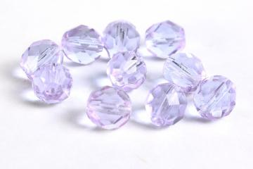 8mm alexandrite purple faceted round glass bead lustre 10pc  (044)