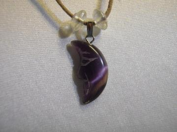 Beautiful PURPLE MOON cat's eye necklace