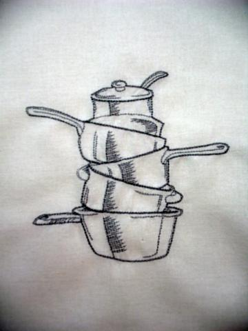 RESERVED FOR RITA T. SCOTT - STACK O' POTS flour sack towel