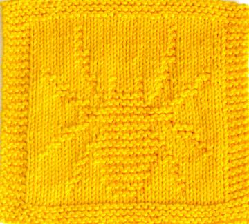 Knitting Cloth Pattern -  SPIDER - PDF