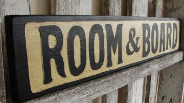 Room and Board sign