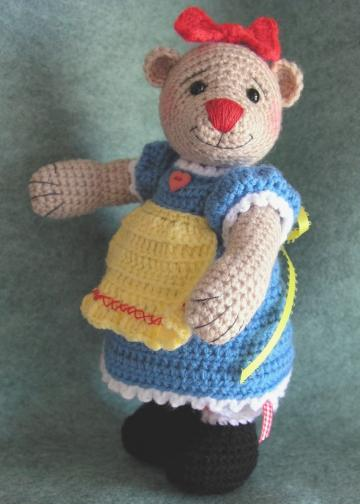 Crochet Pattern, Toy Bear Dressed Like Rag Doll, Bearalyn McRaggle - PDF File