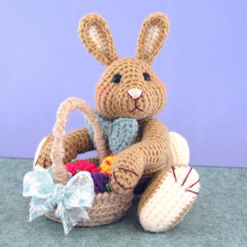 Crochet Pattern, Harvey Thumper Easter Bunny Rabbit, PDF File