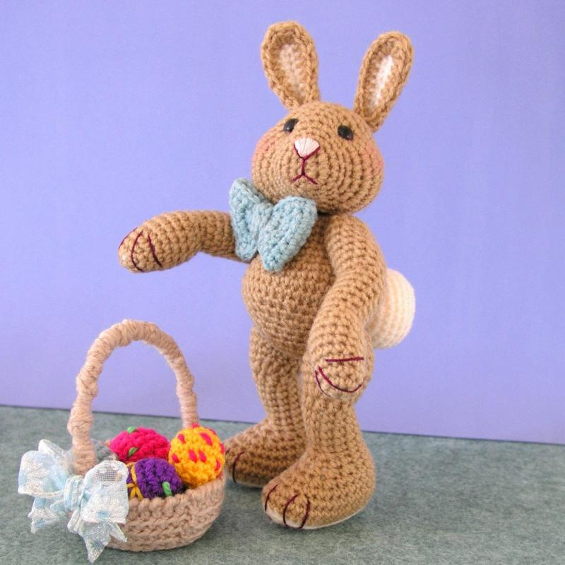 Crochet Patterns Easter : Crochet Pattern, Harvey Thumper Easter Bunny Rabbit, PDF File