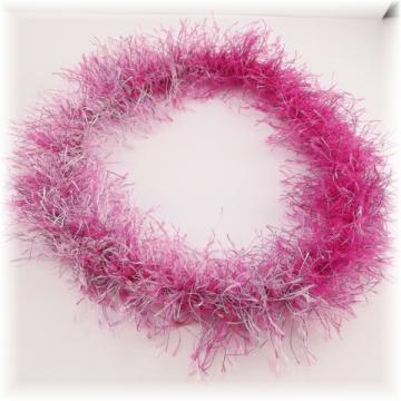 Pink Crocheted Fuzzy Head Band