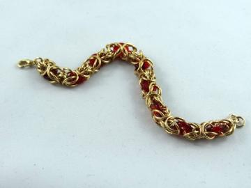 Brass and Glass Byzantine Bracelet