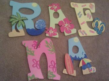 Custom Beach Theme Letters