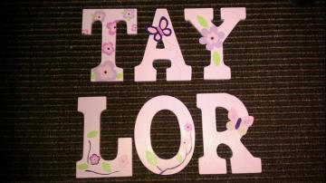 Custom Baby Girl Wooden Letters
