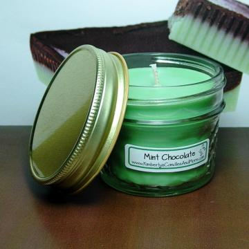 Mint Chocolate PURE SOY 4 oz. Jelly Jar Candle