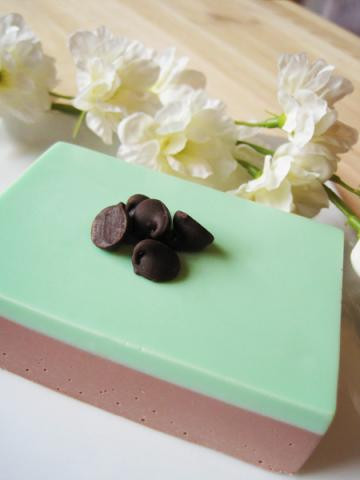 Chocolate Mint french milled bar soap