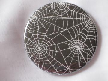 Pin Back Button -  Spider Webs