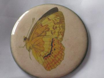 Pin Back Button -  Vintage Butterfly