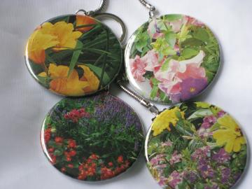 Keychains - Set of 4 - Summer Flowers