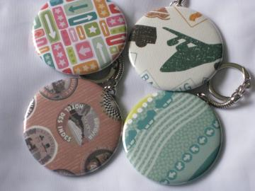 Keychains - Set of 4 - Travel Designs