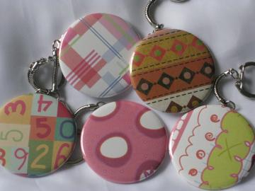 Keychains - Set of 5 - Assorted Prints