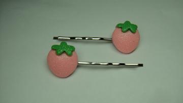 LIFEO-Pink Strawberry-Bobby Pin Hair Clip