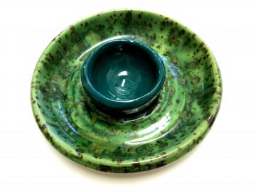 Hand Thrown Pottery Chip and Dip Tray