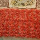 Red 9 rows scallop flower trim