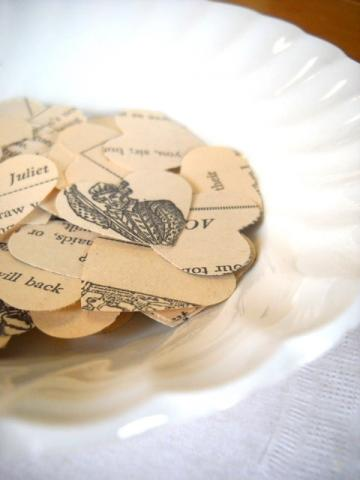 Vintage Romeo and Juliet Paper Heart Confetti Punches - Set of 50