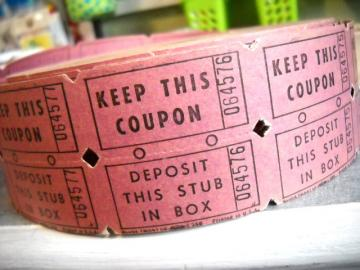 Charming Vintage Raffle Tickets - Old Mauve Pink - One Yard