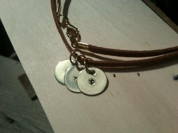 3 Charm Initial Necklace