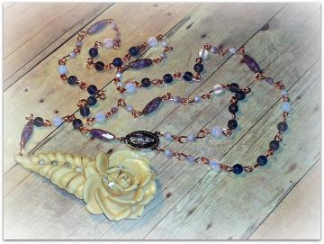 Sacred Feminine - Rosary - Character Collection - Icons Series - OOAK