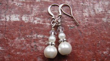 LIFEO-Silver-Snowman-Earrings