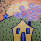 House on the Hill - Original Painting